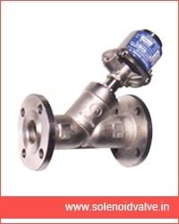 Y type controls valve